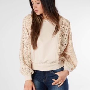 Gimmicks by BKE knit sleeve sweater
